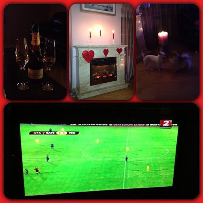 Именно таким образом выглядит День святого Валентина у жены футболиста
