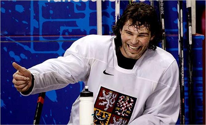 Яромир Ягр сбежл в НХЛ