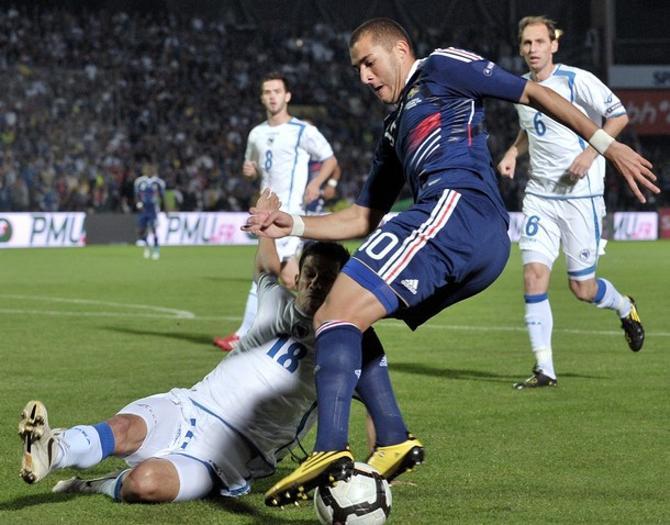 Карим Бензема спас французов от второго подряд конфуза
