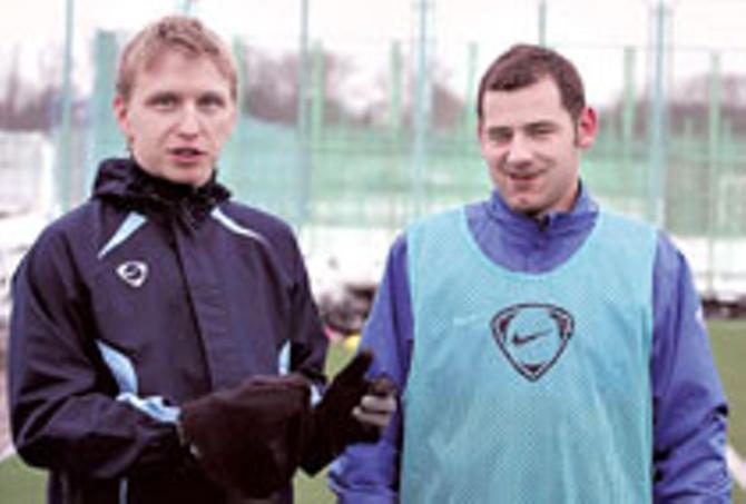 Андрей Разин и Роман Василюк снова играют в одной команде.
