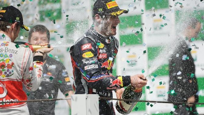 Марк Уэббер решил,что лучше выиграть этап Гран-при поздно, чем никогда.