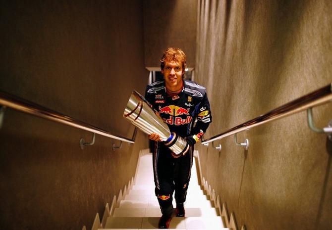 Себастьян Феттель выиграл не только Гран-при Абу-Даби, но и чемпионский титул.