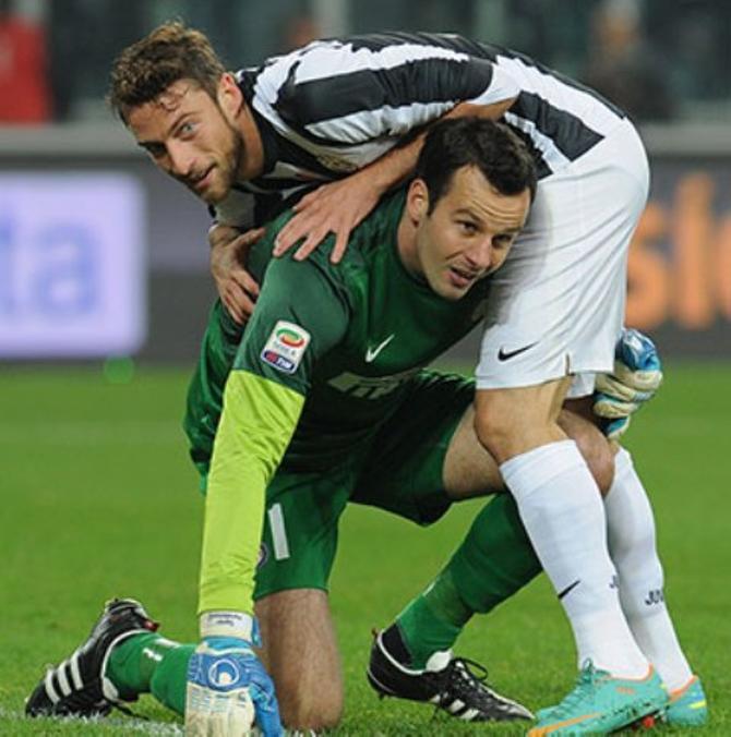 Самир Ханданович справился с весом Клаудио Маркизио, а «Интер» – с «Ювентусом».