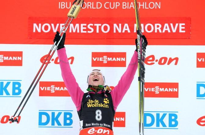 Дарья Домрачева выиграла свою вторую золотую медаль на чемпионатах мира в карьере