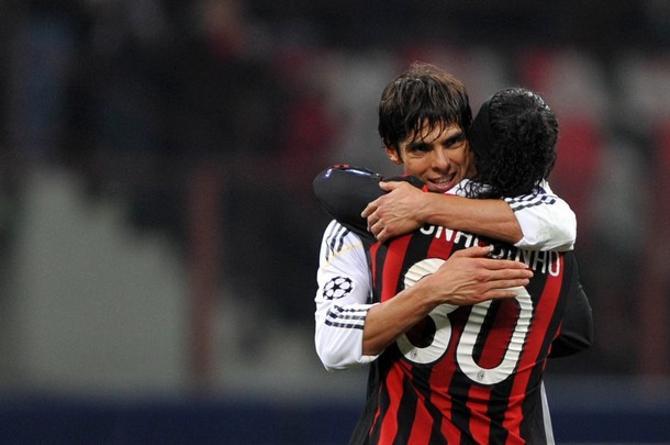 Кака и Роналдиньо - вместе веселей.