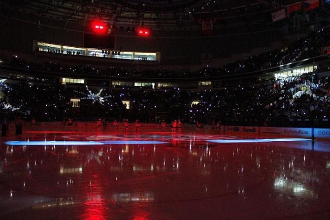В Минске гордятся своей ареной. Как и в Риге.