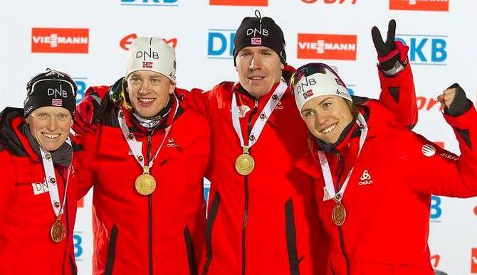 Сборная Норвегии первый золотой медалист чемпионата мира-2013