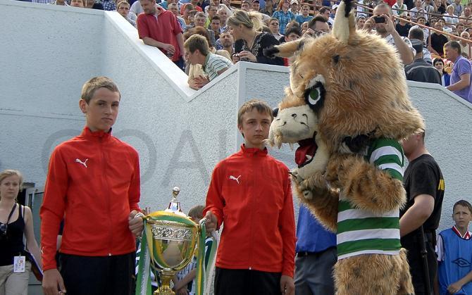 Гомельская рысь еще до начала матча покушалась на Кубок.