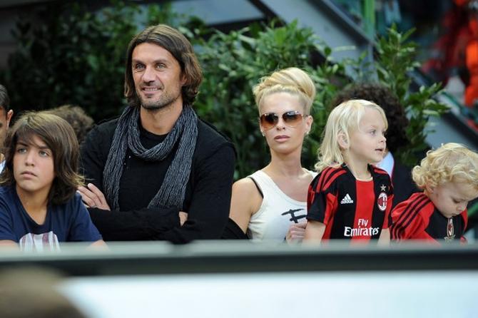 Паоло Мальдини и его семья.