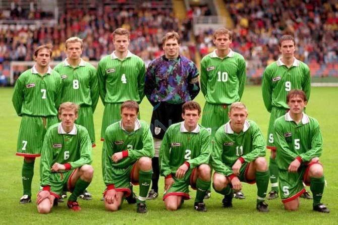 1996 год. Белорусская команда перед разгромом от шведов