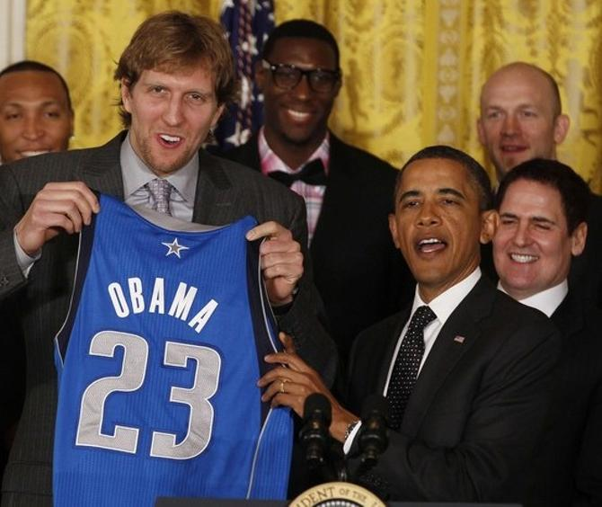 Чемпионы НБА удостоились аудиенции у президента страны.