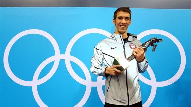 Майкл Фелпс и приз лучшему спортсмену в истории Олимпиады.