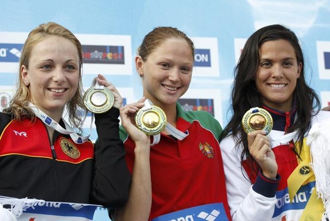 Белорусская чемпионка, конечно же, в центре внимания