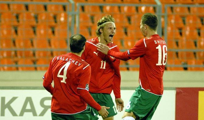 Чтобы забить первый гол за сборную, Сергею Кривцу понадобилось провести на поле всего три минуты