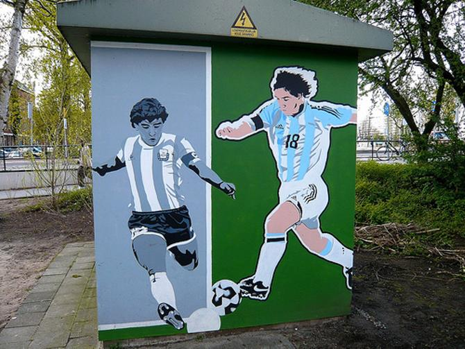Диего Марадона и Лионель Месси - их Европа запомнит надолго.