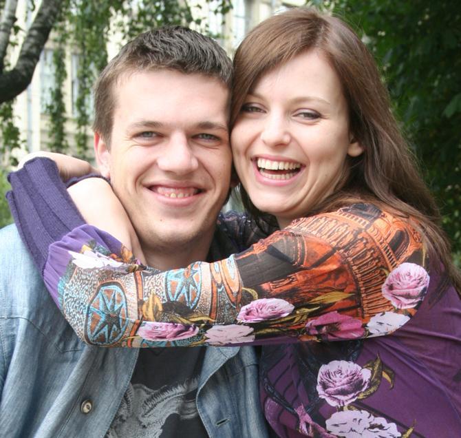 И Сергей, и Алена шутили во время родов -- такая вот героическая пара