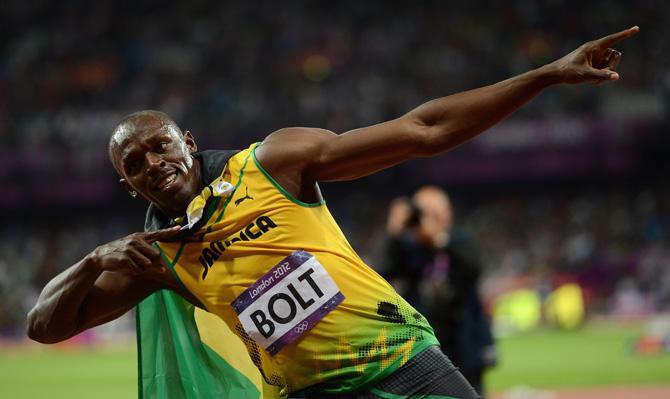 Усэйн Болт - двукратный олимпийский чемпион.