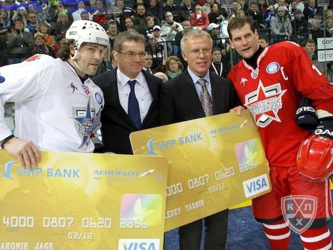 Бессменные капитаны звездных команд - Яромир Ягр и Алексей Яшин.