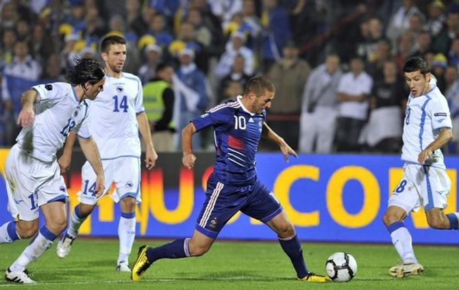 Карим Бензема оживил игру сборной Франции.