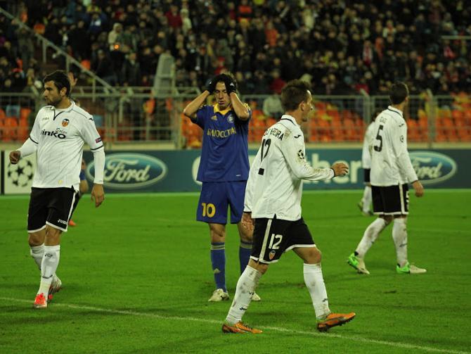 После матча с «Валенсией» игрокам БАТЭ было впору хвататься за голову