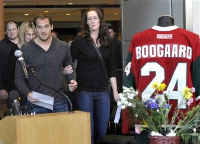 Дерек Бугаард навсегда останется в памяти родных и болельщиков.