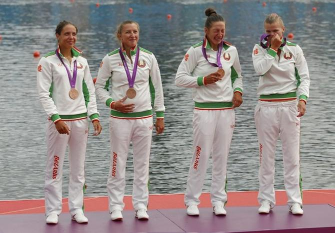 Ирина Помелова, Надежда Попок, Ольга Худенко и Марина Полторан - бронзовые призерки Олимпиады!