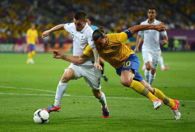 Златан Ибрагимович в этот вечер был лучшим не только в составе шведов.
