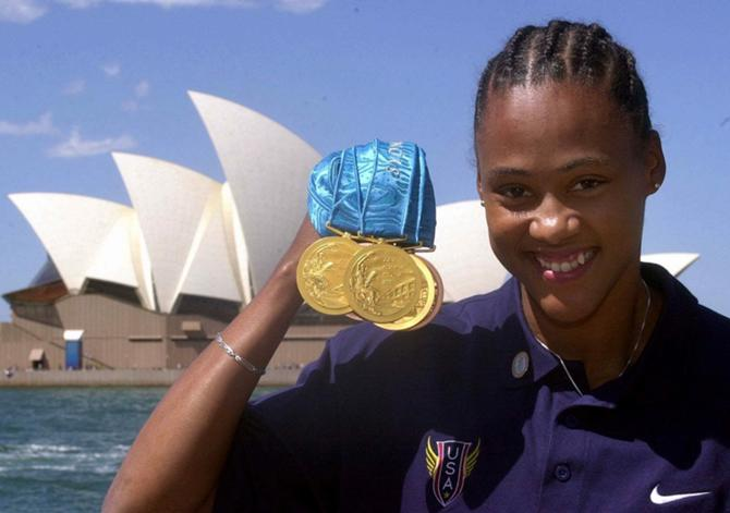 Мэрион Джонс -- автор самого громкого допингового скандала в истории Олимпиад.