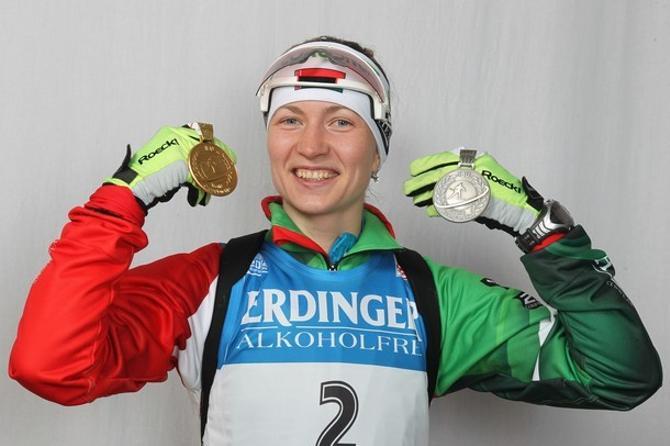 Дарья Домрачева на чемпионате мира-2012 завоевала уже две медали.