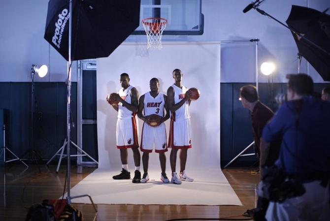 Троице из Майами теперь нужно успевать играть в баскетбол между фотосессиями.