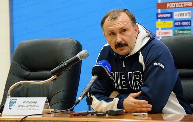 Игорь Криушенко отмечает, что белорусы до конца матча не опускали рук