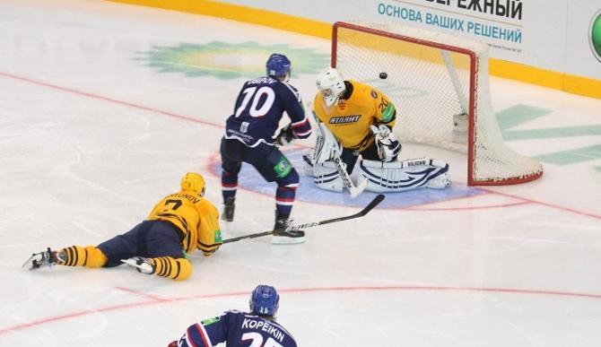 Единственную шайбу в КХЛ Никита Осипов забросил в ворота «Атланта»