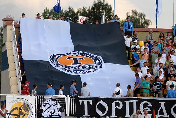 Болельщики «Торпедо» подготовились к дебюту своей команды в еврокубках.