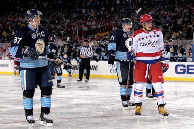 Два капитана: Сидни Кросби и Александр Овечкин.