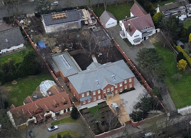 Так выглядит дом Стивена Джеррарда с высоты птичьего полета.