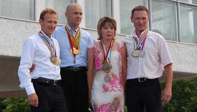 Владимир Драчев, Вадим Сашурин, Алена Зубрилова и Олег Рыженков -- былые времена белорусского биатлона вспоминаются с ностальгией