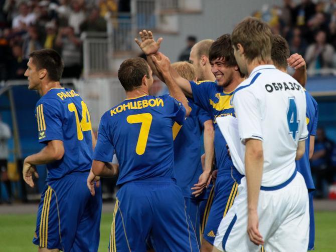 Партнеры по БАТЭ поздравляют Филиппа Сергеевича Рудика с первым голом за команду