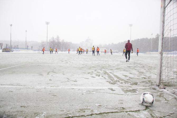 Погода не радовала. Но некоторым футболистам