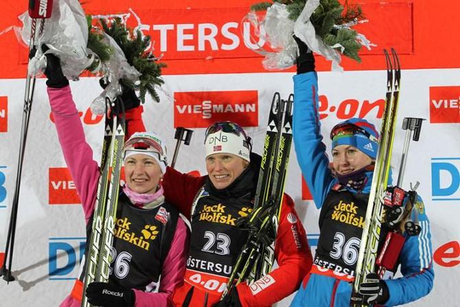 Дарья Домрачева провела неплохую гонку. Но не идеальную