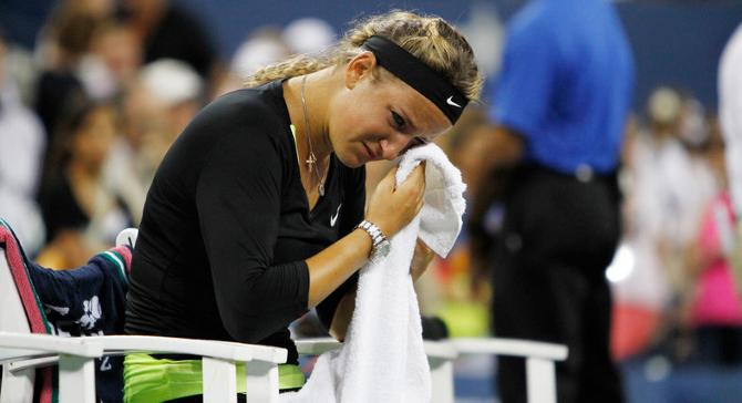 После матча с Сереной  ямс Виктория Азаренко не смогла сдержать слез