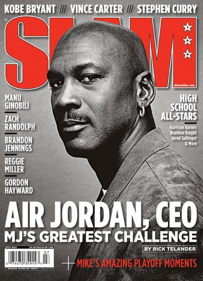 Майкл Джордан на обложе баскетбольного журнала Slam.