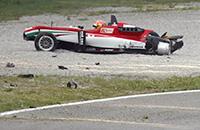 Полет болида «Формулы-3» в Монце