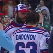 Ковальчук передает приз MVP Дадонову