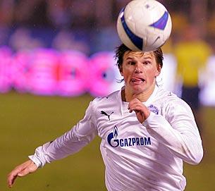 Андрей Аршавин гонится за мячом
