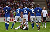 Ограбление по-итальянски. Лучшие кадры матча Германия – Италия