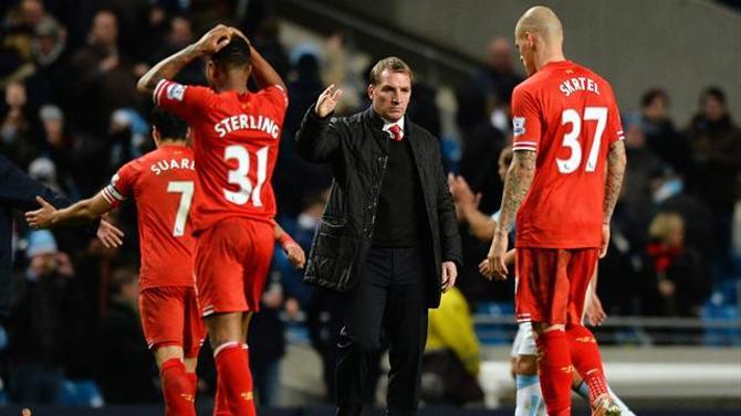 Наставник «Ливерпуля» Брендан Роджерс, несмотря на поражение в матче с «Манчестер Сити», остался доволен игрой своих подопечных