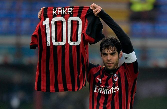 Кака довел количество голов за «Милан» до круглой цифры