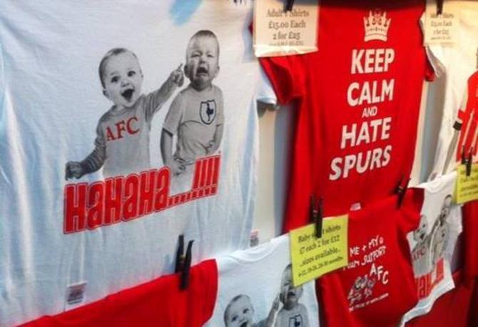 Атрибутика «Арсенала» оперативно отображает настроения пяти недель лидерства команды