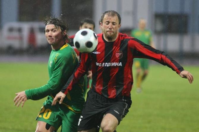 Мариан Слука забил первый гол за гродненскую команду.