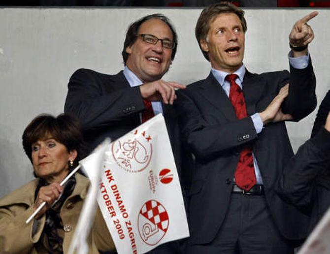 Генри ван дер Ат (слева) счастлив, что